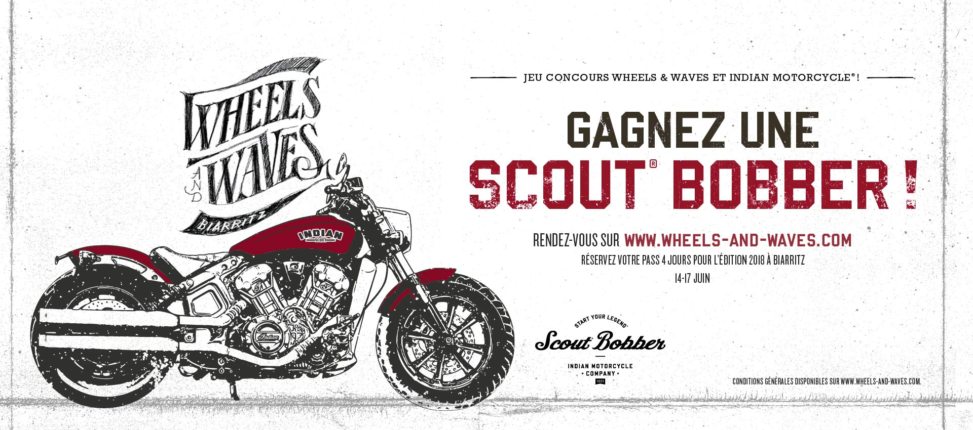 Indian Motorcycle - Win a Bobber - Wheels and Waves